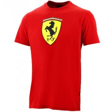 Модная мужская футболка Ferrari Big Scudetto, красная