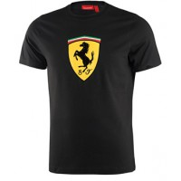 Брендовая мужская футболка Ferrari Big Scudetto, чёрная