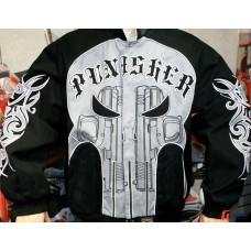 Мужская куртка бомбер Marvel  The Punisher черная с черепом