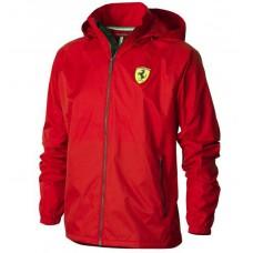 Красная мужская ветровка Ferrari с капюшоном