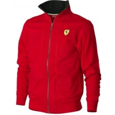 Красная мужская толстовка Ferrari молнии