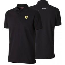 Классическое мужское поло Ferrari, чёрного цвета