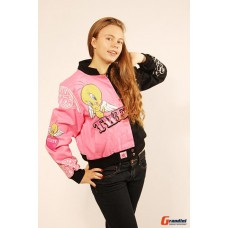 Женская клубная куртка Tweety черно-розовая