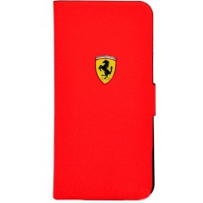 Чехол книжка для iPhone 5C Ferrari Rubber, Booktype красный