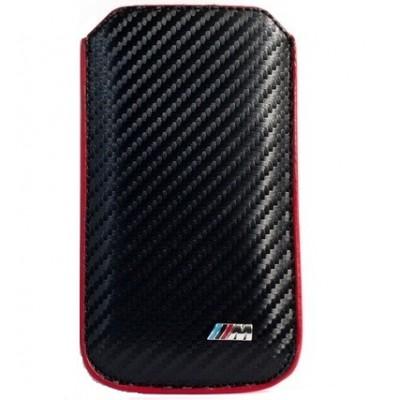 Универсальный чехол-карман BMW M Carbon, черный