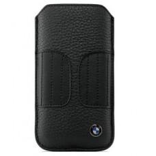 Универсальный кожаный чехол-карман BMW, черный