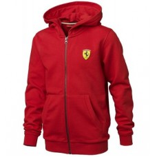 *Детская брендовая толстовка Ferrari на молнии с капюшоном