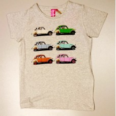 Детская футболка  с принтом Citroen Heritage серого цвета