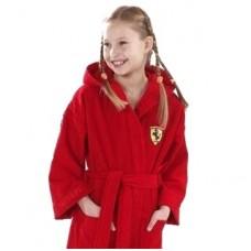 Детский халат Ferrari, красный