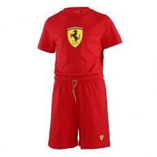*Летний детский спортивный костюм: футболка и шорты Ferrari