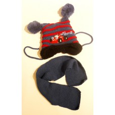 Подарочный набор для новорожденного - Шапка и шарф
