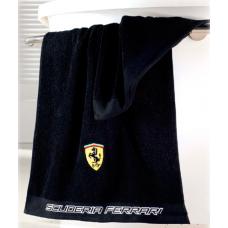 *Полотенце для душа Ferrari 70 х 140 см, черное