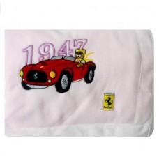 Плед-одеяло детское (80х100 см) Ferrari Vintage розового цвета