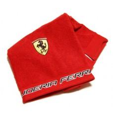 *Полотенце для рук (50х100 см) Ferrari, красное