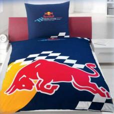 Постельное белье Red Bull Racing односпальный комплект cиний с быком