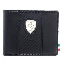 Брендовое мужское портмоне PUMA Ferrari, черного цвета
