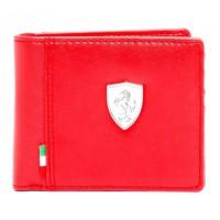 *Брендовый кошелек Ferrari, красного цвета