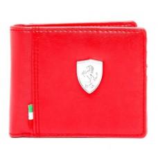 Брендовый кошелек Ferrari, красного цвета