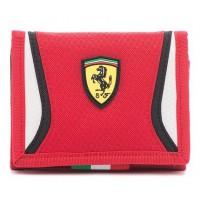 *Детский кошелек для мальчика Ferrari, красного цвета
