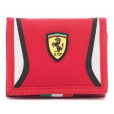 Детский кошелек для мальчика Ferrari, красного цвета