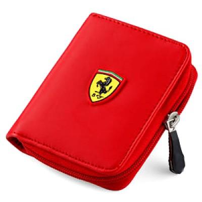 *Красный кошелек Ferrari на молнии