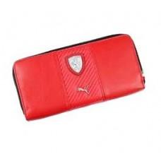 Портмоне PUMA Ferrari на молнии, красного цвета