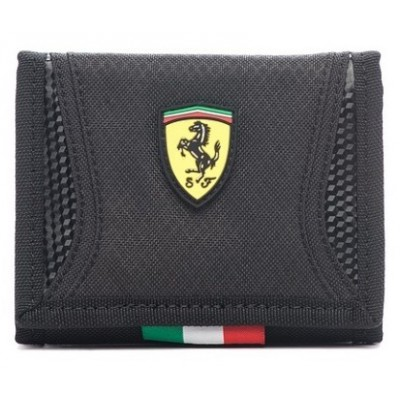 *Спортивный мужской кошелек Ferrari, черного цвета