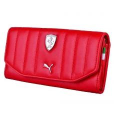 *Женский брендовый кошелек Ferrari PUMA, красный