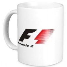 Белая керамическая кружка Formula 1
