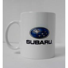 Кружка Subaru, белая