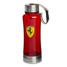 *Стеклянная спортивная бутылка для воды Ferrari, красная