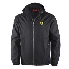 Чёрная мужская ветровка Ferrari (большого размера)