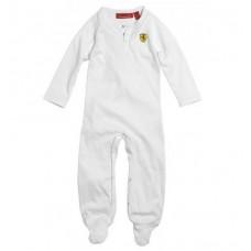 Белая пижама Ferrari для новорожденного