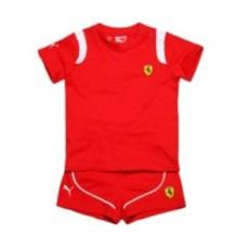 *Одежда (футболка и шорты) Ferrari для новорожденного мальчика