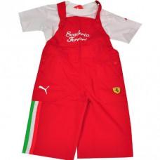Прикольный костюм гонщика Ferrari для новорожденного
