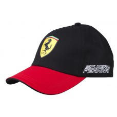 *Бейсболка Ferrari Three Coloured черная