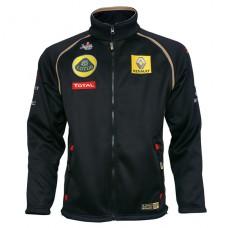 *Мужская толстовка на молнии Team Lotus Renault GP черного цвета