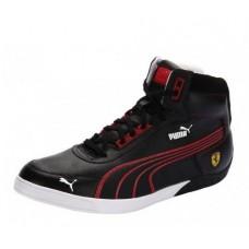 *Черные мужские кроссовки PUMA Ferrari 3-0 MID SF