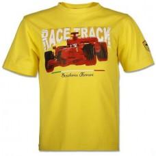 Детская футболка с принтом Ferrari Race Track, жёлтая