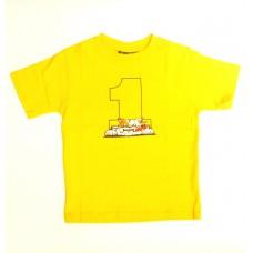 Детская футболка Valentino Rossi желтого цвета