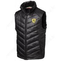 Дутая мужская жилетка Ferrari, чёрная