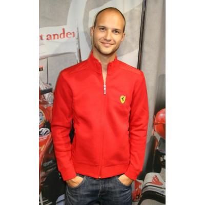 Красная мужская толстовка Ferrari Snaps на молнии (без капюшона)