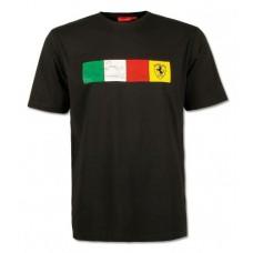 Мужская футболка Ferrari Check, чёрная