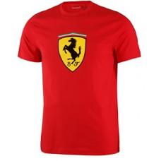 Брендовая мужская футболка Ferrari Big Scudetto, красная