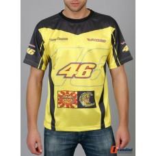*Мужская футболка  Valentino Rossi  NR06 желтого цвета