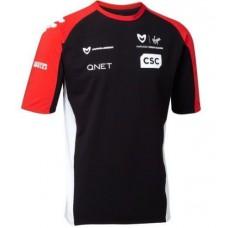 Мужская командная футболка Marussia Virgin черного цвета