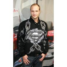 Мужская куртка бомбер Superman Black черная