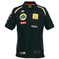 Мужское поло Vitaly Petrov Lotus Renault GP черного цвета