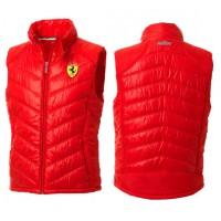 *Мужской дутый жилет Ferrari, красный