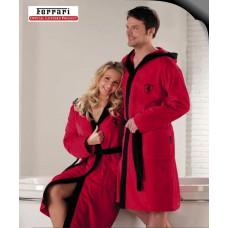 *Взрослый халат Ferrari красный. Коллекция Exclusive